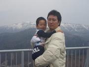 息子と一緒に撮った写真です